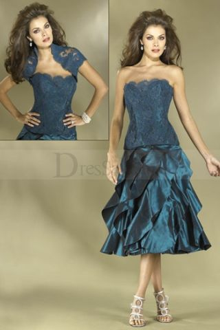 Lace and Taffeta Two-Tone Formal Design In 2012