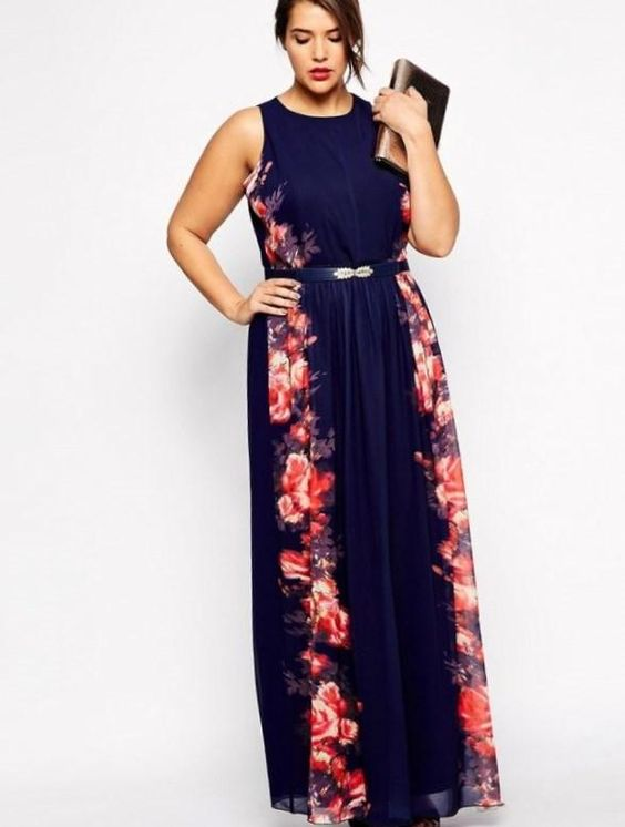 Semi formal plus size dresses for a wedding - http://pluslook.eu ...