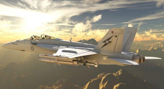 Royal Australian Air Force E/A-18G Growler Electronic Attack Aircraft.