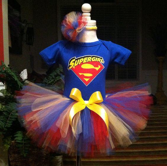 Beautiful Supergirl Birthday Tutu Dress Outfit by HissyfitsTutus, $34.99