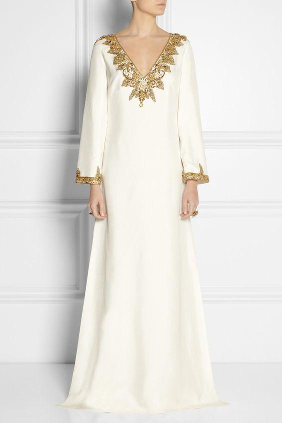 Marchesa   Embellished silk-shantung kaftan-style gown   NET-A-PORTER.COMwavpa.