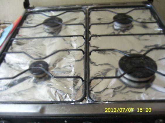 Papel aluminio para mantener limpia y en buen estado tu cocina