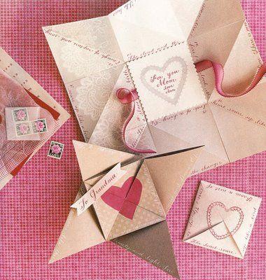 winter...origami valentine