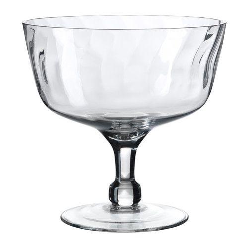 Svalka champagne glass clear glass bols de servir coup et sucr doux - Bougies flottantes ikea ...