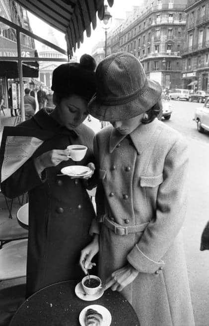 """beebalmtraveler: """" Tea time, Paris, 1960s. """""""