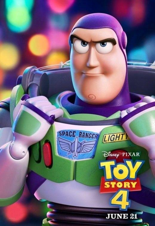 Toy Story 4 Character Posters Buzz Lightyear Pixar Walt Disney Kartun Disney