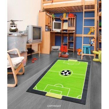 Un terrain de football pour votre champion m me dans sa - Chambre garcon pompier ...