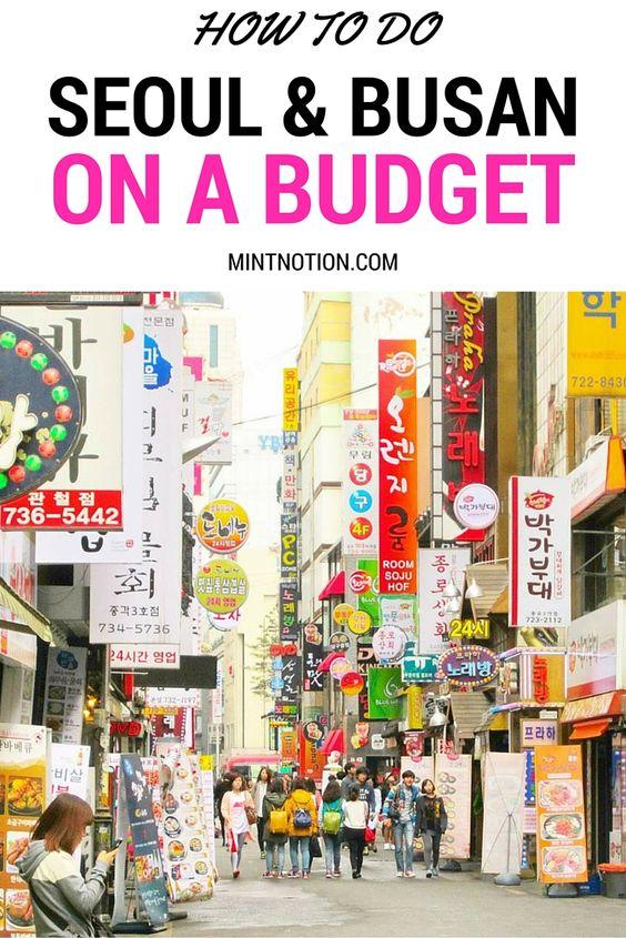 travel seoul busan budget