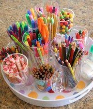 supply organization: Art Party, Craft Supplies, Kids Crafts, Organizing Supplies, Crafts Ideas Organize Diy, Art Supplies
