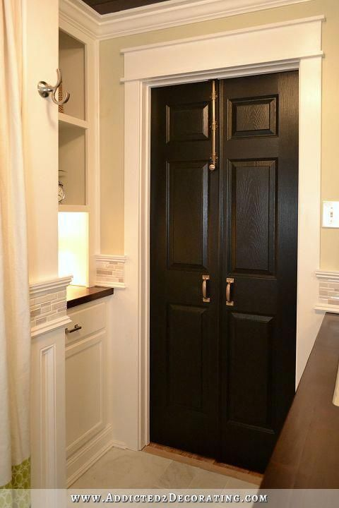Bifold Doors To A Double Door In A Standard Door Frame Perfect For Our Small Master It Would Kee Bifold Doors Makeover Diy Bathroom Remodel Bathrooms Remodel