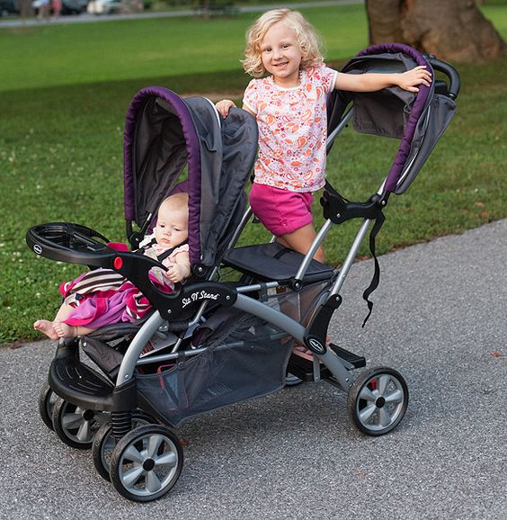 the baby trend sit n stand double stroller is perfect for growing families baby trend. Black Bedroom Furniture Sets. Home Design Ideas