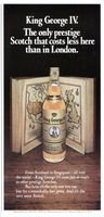 King George IV Scotch Whisky 1972 Ad Picture