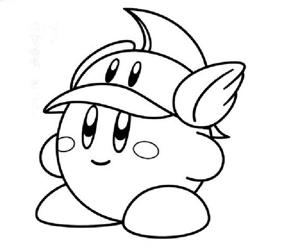 Kirby coloring pages photos video game coloring pages for Cute kirby coloring pages