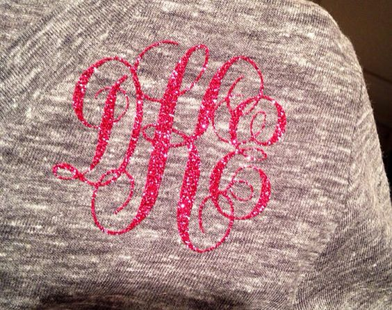 monogram iron on vinyl monogram iron on letters by pinspapernpaint