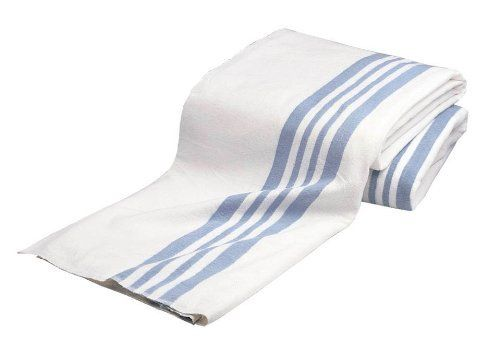 Olympus Heavy Napping Confort Blankets White With Blue Stripe By