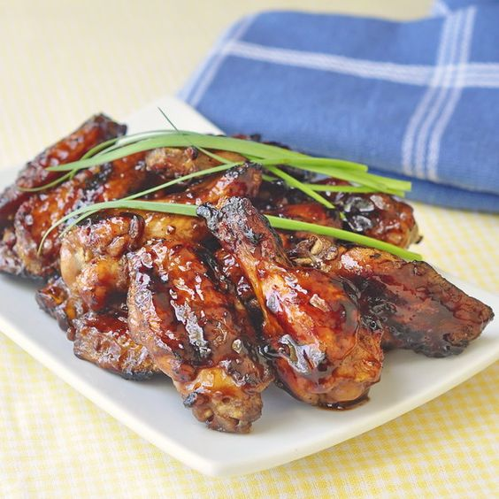 Grilled Honey Barbecue Wings | Recipe | Grilled wings ...