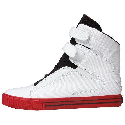 8da0e0f85a4b Supra TK Society White Tuf Wax Canvas Red Sneakers  89.99 (38% OFF ...