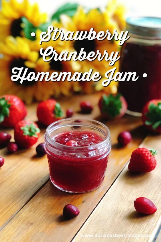 Strawberry Cranberry Homemade Jam