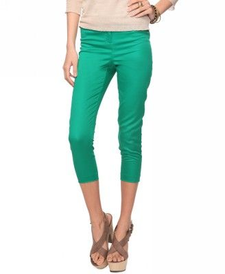 $14.80? I'll take one in each color!: Style Capris, Inner Fashionista, Fashion Ideas, Fashion Beauty, Green Capris, Capris 14, Fantasy Closet
