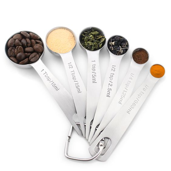 1Easylife Brand New Version Stainless Steel Measuring Spoons Set