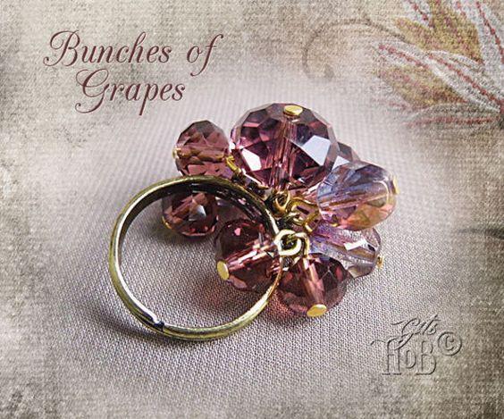 Ringe - Ring Bunches of Grapes - ein Designerstück von git62 bei DaWanda