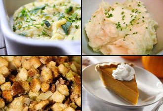 "4-6 person Deluxe Thanksgiving Package-""Cook Your Own bird, we supply sides and dessert!"