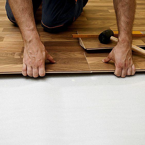 Colocacion de piso flotante con sistema Klic sin adhesivos - Alberdi Maderas