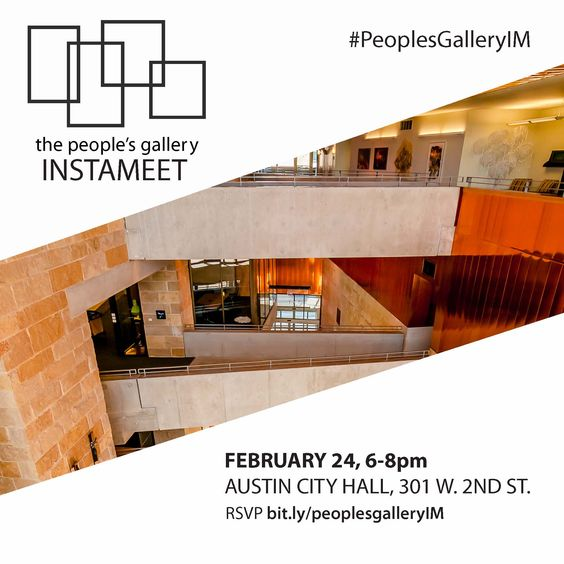 #ATX Instagrammers - get a sneak peek at the 2015 People's Gallery exhibition at our first ever Instameet! RSVP at bit.ly/peoplesgalleryIM