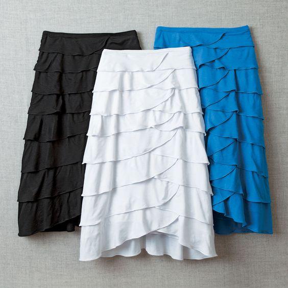 Knee Length Skirts   ... knee length petal skirt our most popular skirt now in a shorter length