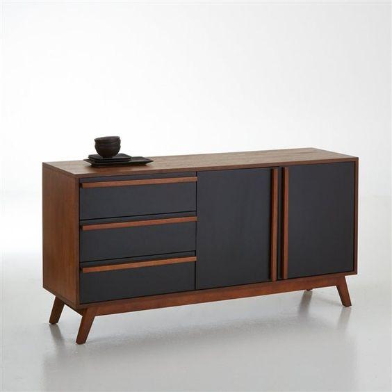 Buffet vintage en noyer, Watford La Redoute Interieurs Longueur : 150 cm Hauteur : 76 cm Profondeur : 40 cm  412