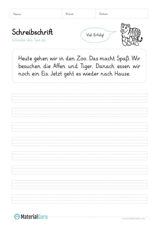 Arbeitsblatt Schreibschrift Texte Abschreiben 01 Druckschrift Lesen Lernen Lesen Lernen 1 Klasse