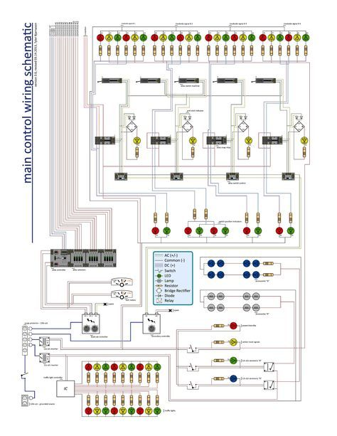 Wiring Schematic For Ty S Model Railroad Model Trains Model Railroad Model Railway Track Plans