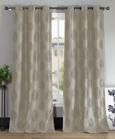 Duck River Textile Taupe Iselin Blackout Curtain Panel - Set of ...