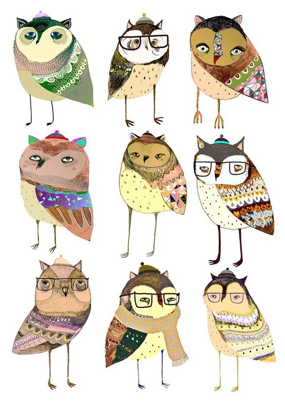 """Un búho, una ilustración y un cuento"" / ""An owl, an illustration and a story""."