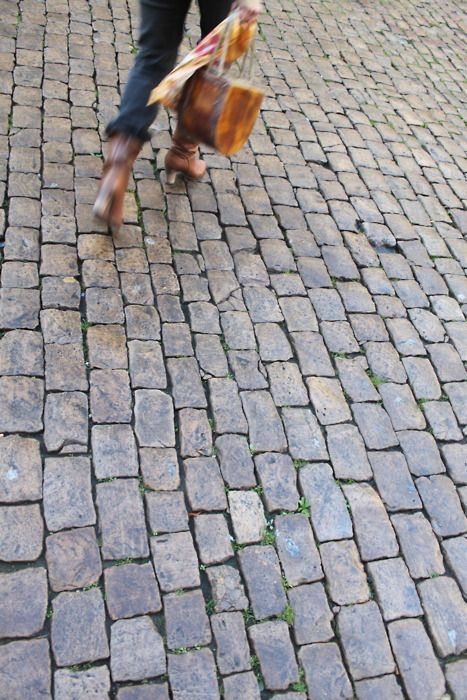 """A Cobble Stone Driveway.. yup, going old school! I love the look, and the """"antique-ness"""" of it."""