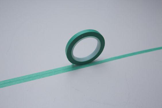 """Weihnachtsmaterial - Tape SLIM / SCHMAL grün türkis """"addiert si... - ein Designerstück von bespokedesign bei DaWanda"""