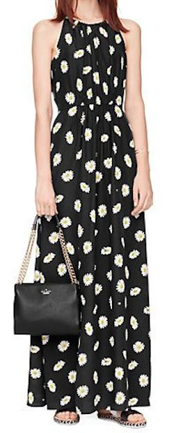daisy dotted maxi dress