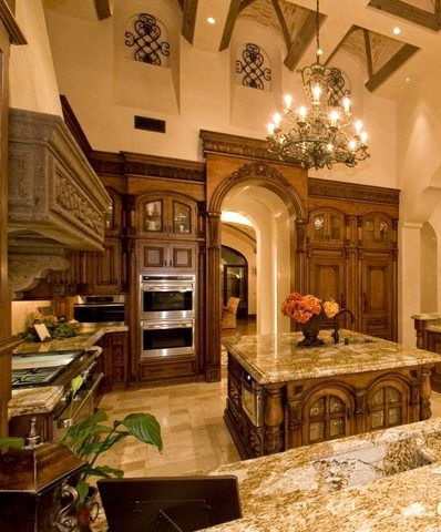 Dream kitchen - can you just imagine having ceilings that high?