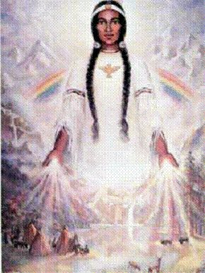 According to legend, there are seven holy caves guarded by Rainbow Woman, with the central one being entirely made of clear crystal. Today the caves remain hidden, but during the Awakening, Rainbow Woman will guide the Rainbow Warriors to the Crystal Cave. There the Warriors will receive the messages left by the Star People and gain the ability to communicate with them on many planes of existence.