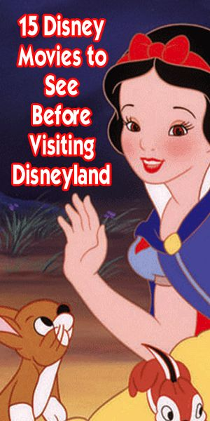 15 Disney movies to know before visiting Disneyland. Look for which attractions match these movies, where you can find the characters, how you can purchase or stream the movies and tips on your park experience. Enjoy with popcorn!