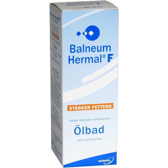 BALNEUM Hermal F flüssiger Badezusatz:   Packungsinhalt: 200 ml Flüssigkeit PZN: 04291388 Hersteller: ALMIRALL HERMAL GmbH Preis: 6,84…
