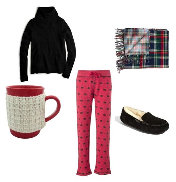Cozy and Comfy by sgaffney on Polyvore featuring J.Crew, UGG Australia, women's clothing, women's fashion, women, female, woman, misses and juniors:
