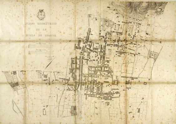 Vila de Gràcia de l'any 1863.