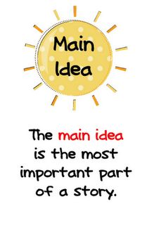 Main idea poster