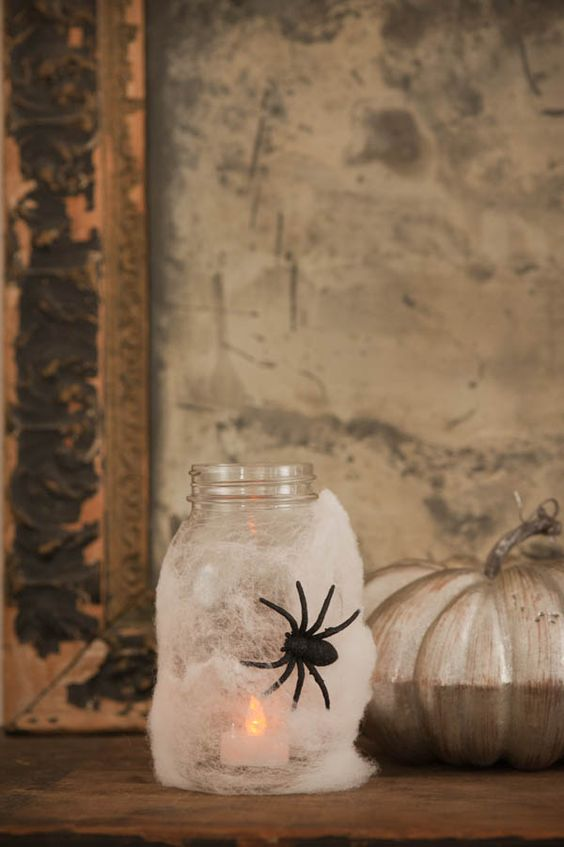 Are you guys as excited about Halloween as I am? I believe I warned you that I am basically Halloween obsessed and I'm trying not to let you down on that front! To that end, I'm coming at you today with a super cute and easy DIY project that will instantly add a little spook to your decor. These Halloween spider lanterns would be perfect for jazzing up a Halloween party, adding a little ambiance to a scary movie date ...