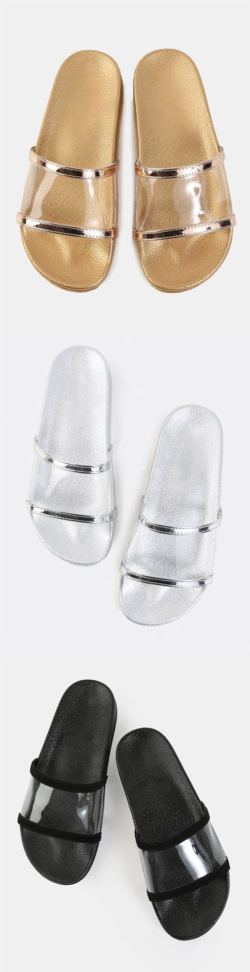 Open Toe Lined Slide Sandals BLACK