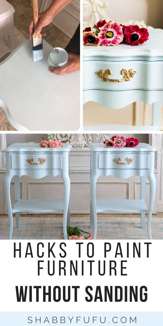 Paint Wood Furniture Without Sanding In 2020 Diy Furniture Redo Furniture Painting Wood Furniture