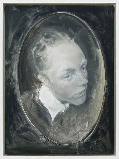 Moa Yan, Oval Portrait – Posie Musgrau, 2010, Oil on Canvas, 72.5 x 53.5 cm
