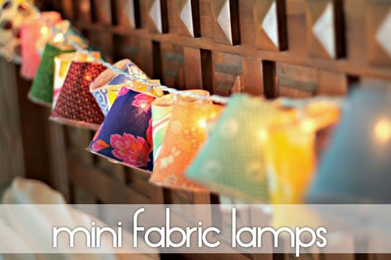 Mini Fabric Lamps: Diy Craft, Fabric Scraps, Fabric Lamps, Diy Mini