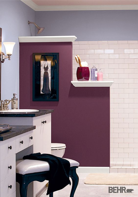 Give your bathroom a much needed makeover by painting your walls with  calming paint colors. Lavender Paint Colors Bedroom